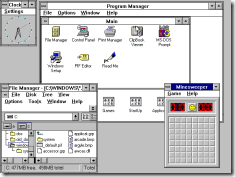 Windows 3.11 workspace